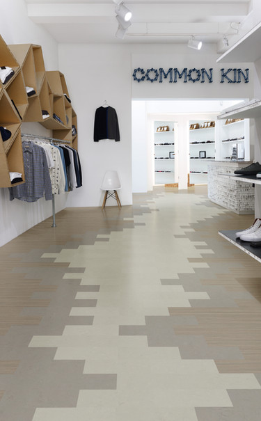 Linoleum Modular lines shade 100x25 3573 50x25