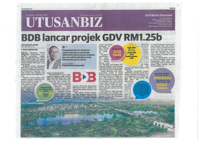 BDB LANCAR PROJEK GDV RM 1.25b