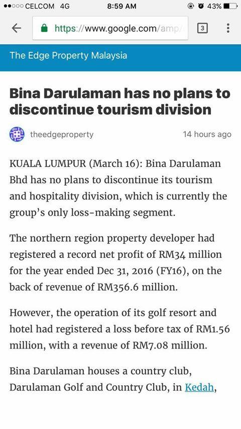 BDB HAS NO PLANS TO DISCONTINUE TOURISM DIVISION- THE EDGE PROPERTY