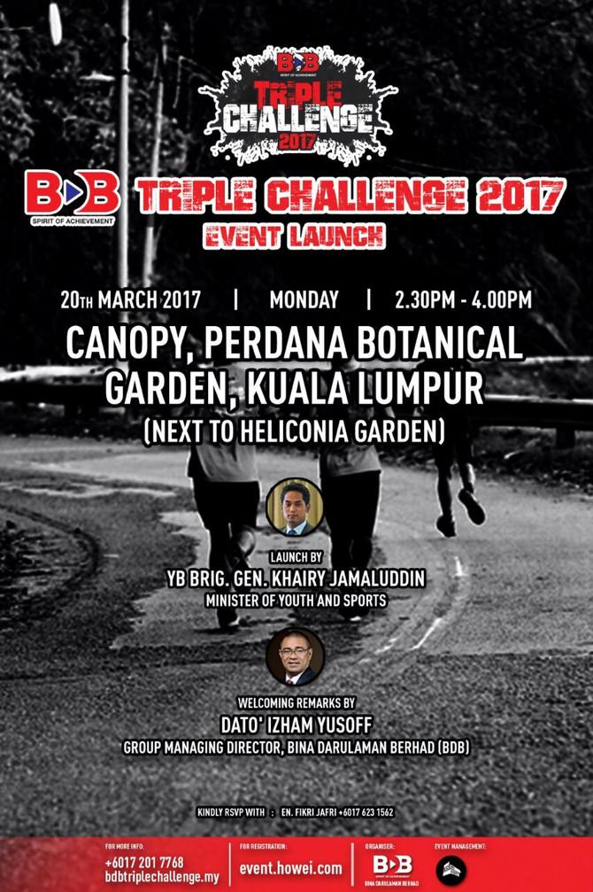 BDB TRIPLE CHALLENGE 2017 LAUNCHING