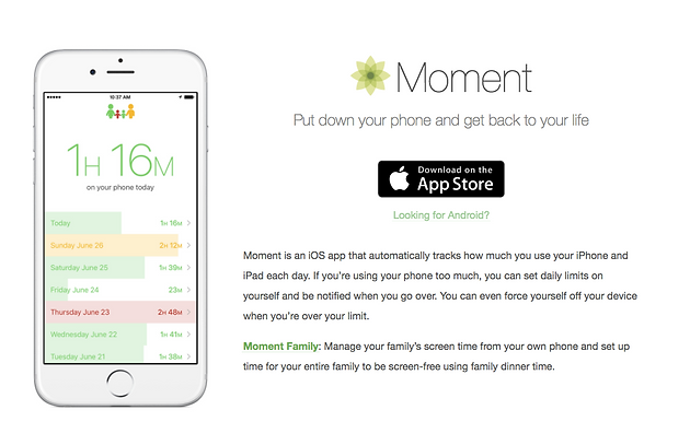 Need help regulating your phone usage? Moment App could help
