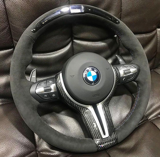 BMW Alcantara Steering Wheel with LED Display