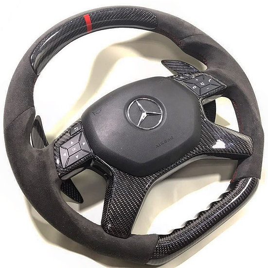 Mercedes Benz Alcantara & Carbon Fiber Combined Steering Wheel