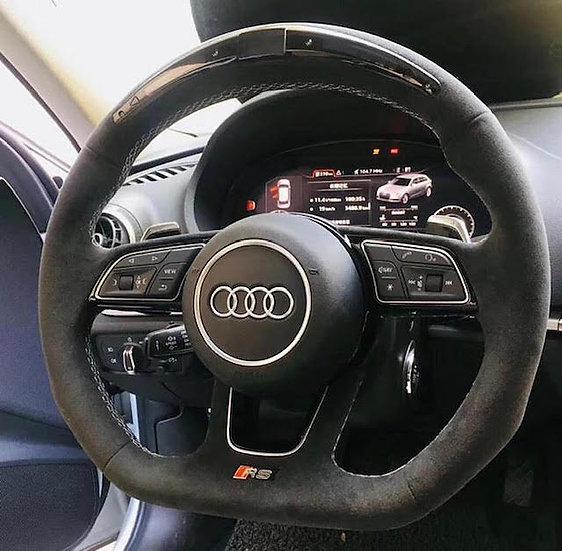 AUDI Full Custom Alcantara Steering Wheel With LED Display