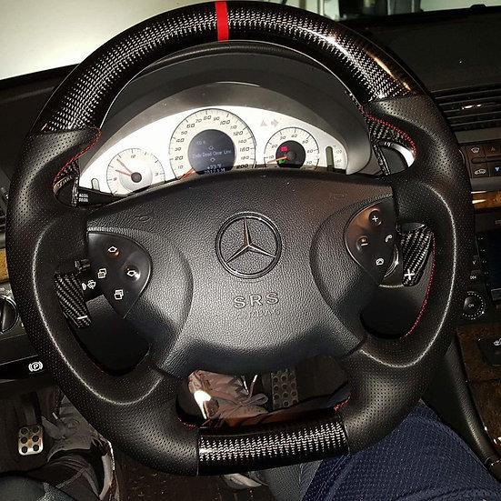 Carbon Fiber Flat Bottom Steering Wheel for Mercedes Benz