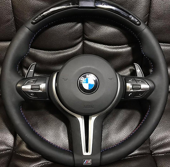 BMW Leather Steering Wheel With LED Display