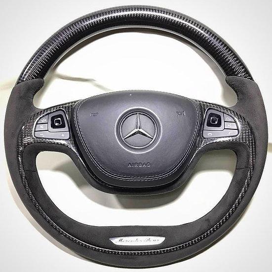 Alcantara & Carbon Fiber Mercedes Benz Steering Wheel