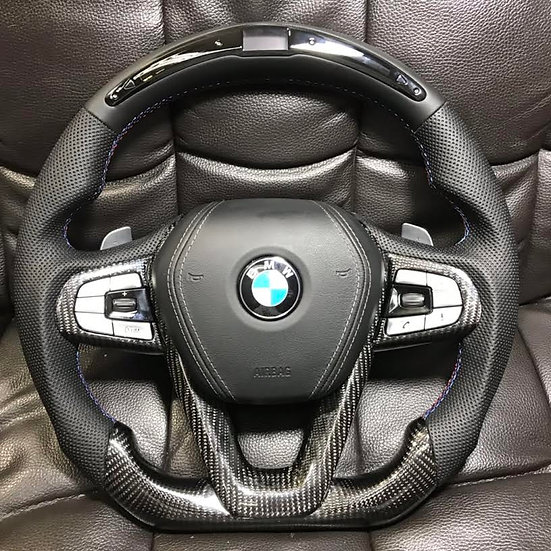 BMW Carbon Fiber Steering Wheel With LED Display