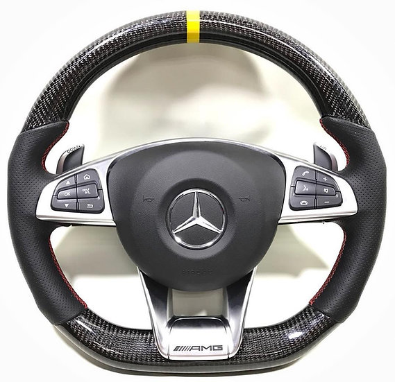 Mercedes Benz Leather & Carbon Fiber Combined Steering Wheel
