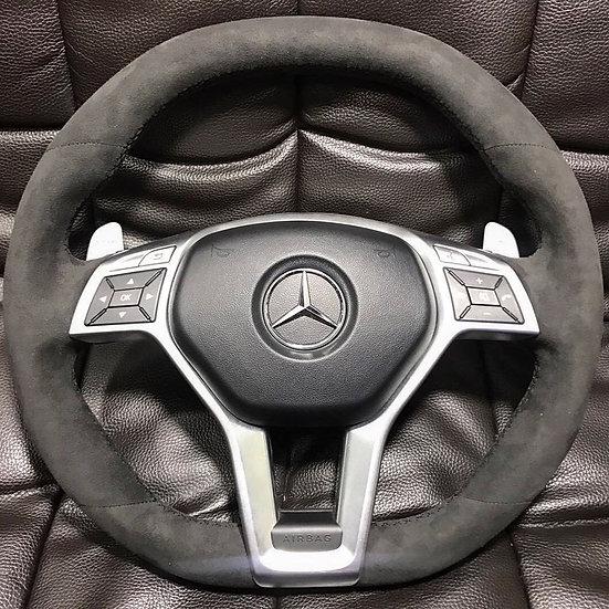Full Alcantara Mercedes Benz Track Edition Steering Wheel