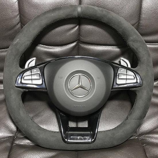 Full Alcantara Mercedes Benz Steering Wheel