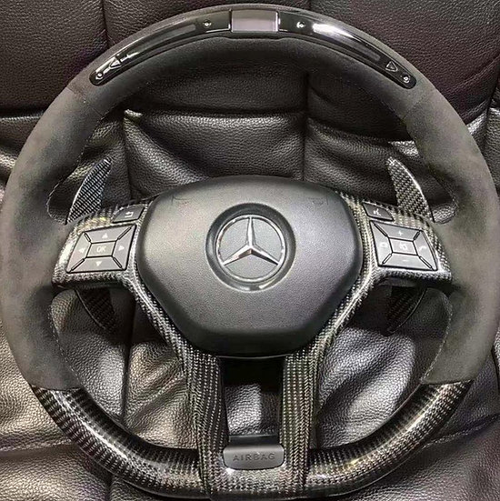 Carbon Fiber Steering Wheel with LED Display for Mercedes Benz