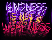 Kindness is not a weakness Neon Sign | Neon Light Artwork