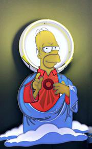 Jesus Humor Simpson Neon Sign | Neon Light Artwork