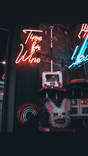 Time For Wine Neon Sign | Neon Light Artwork