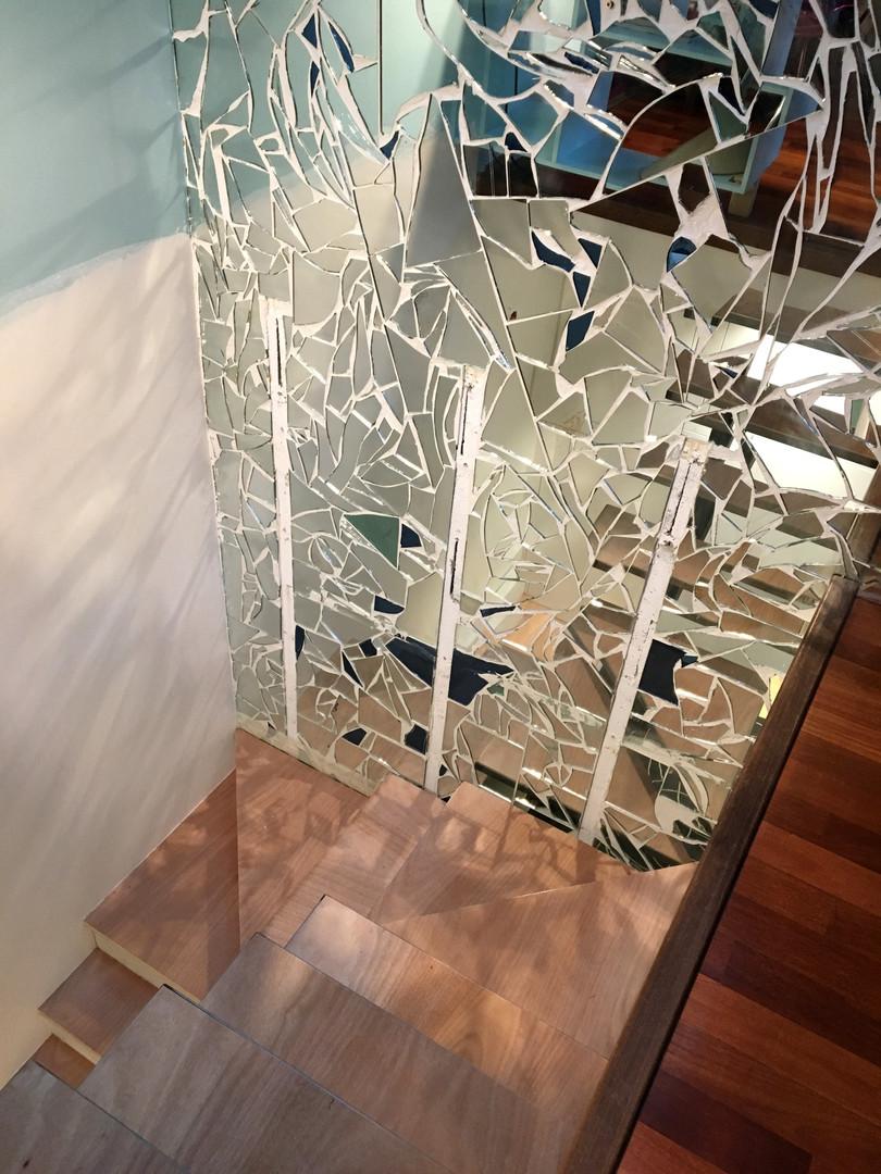 Mur décoratif en mosaïque de miroirs