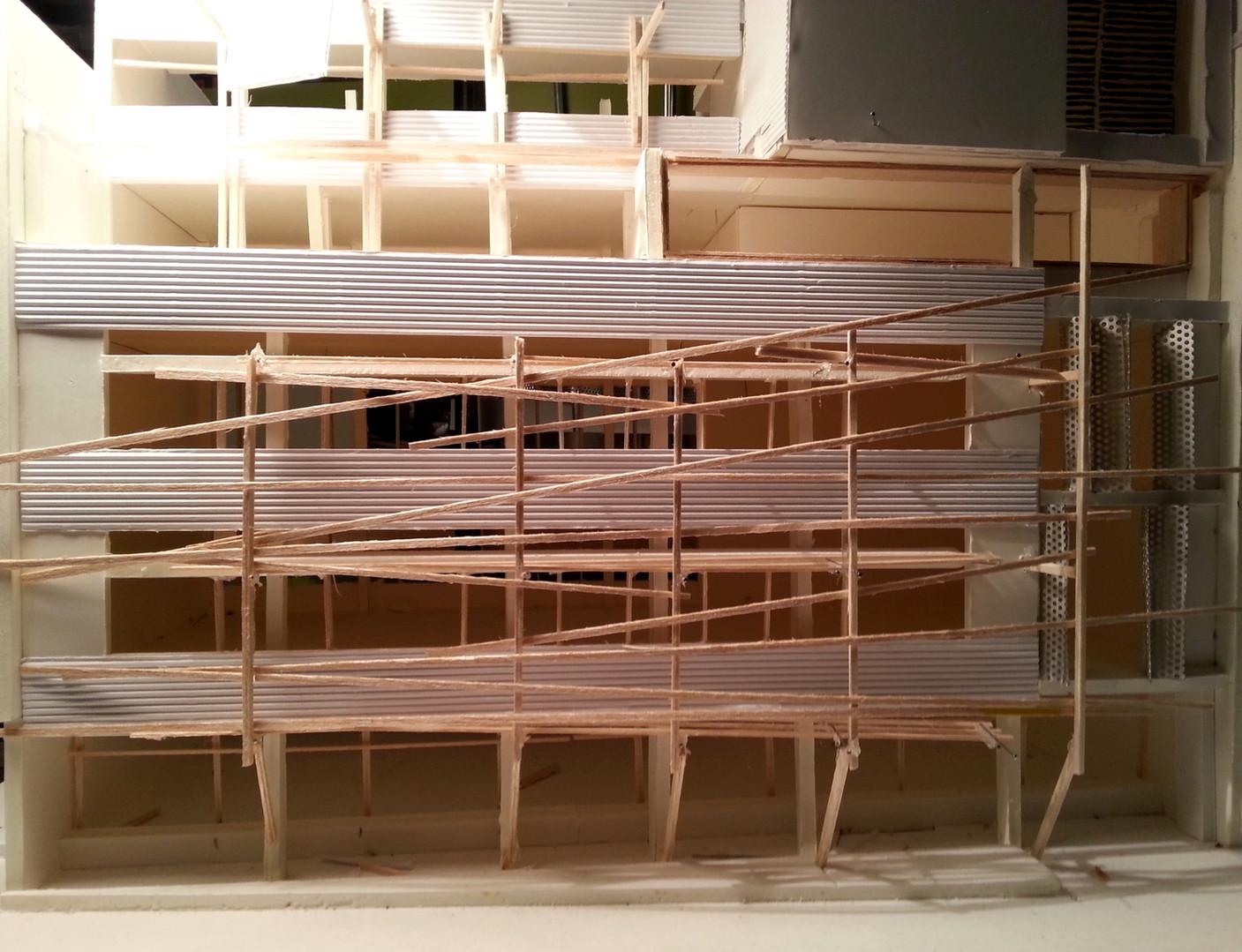 maquette immeuble de bureaux INEX