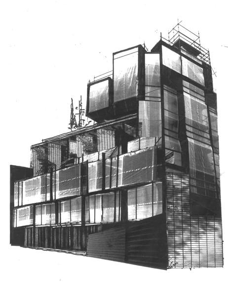 Projet façade des bureaux INEX