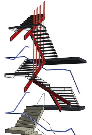 Modélisation de l'escalier à Montreuil