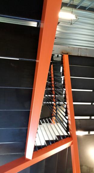 Escalier des bureaux d'INEX