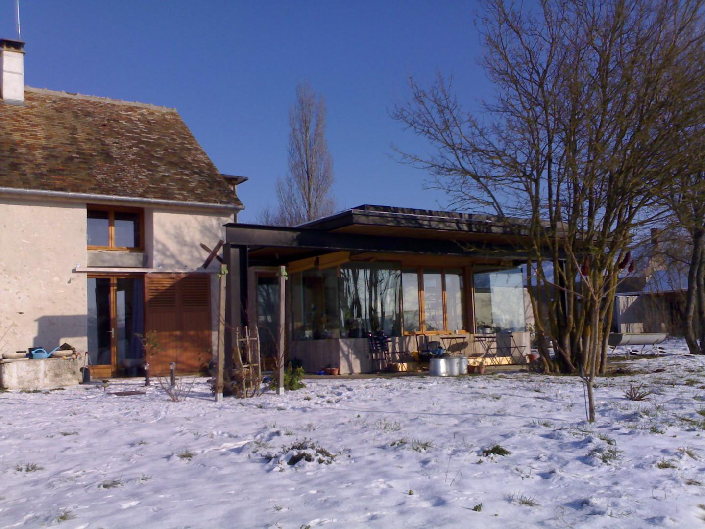 Grange transformée en logement individue
