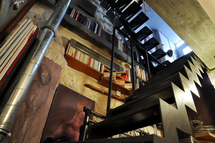 Escalier contemporain dans le Marais à P