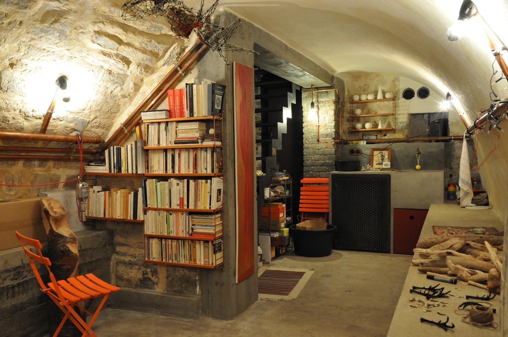 Aménagement de caves en atelier d'artist