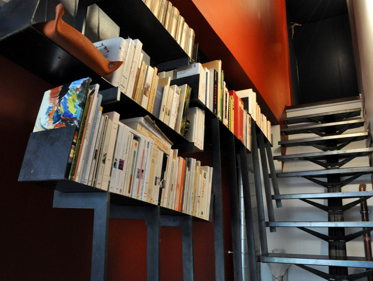 Garde-corps bibliothèque sur mesure
