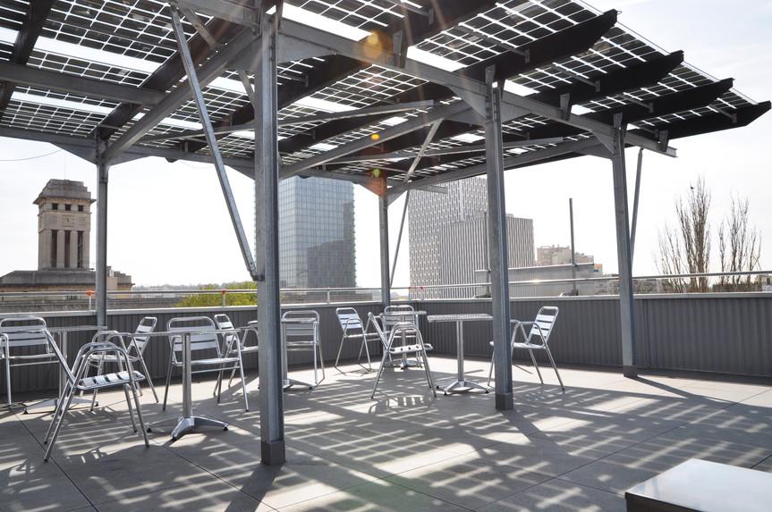 verrière en panneaux photovoltaïques