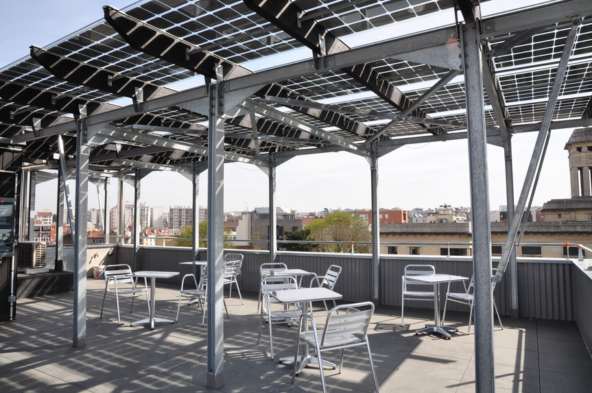 verrières sur le toit des bureaux INEX