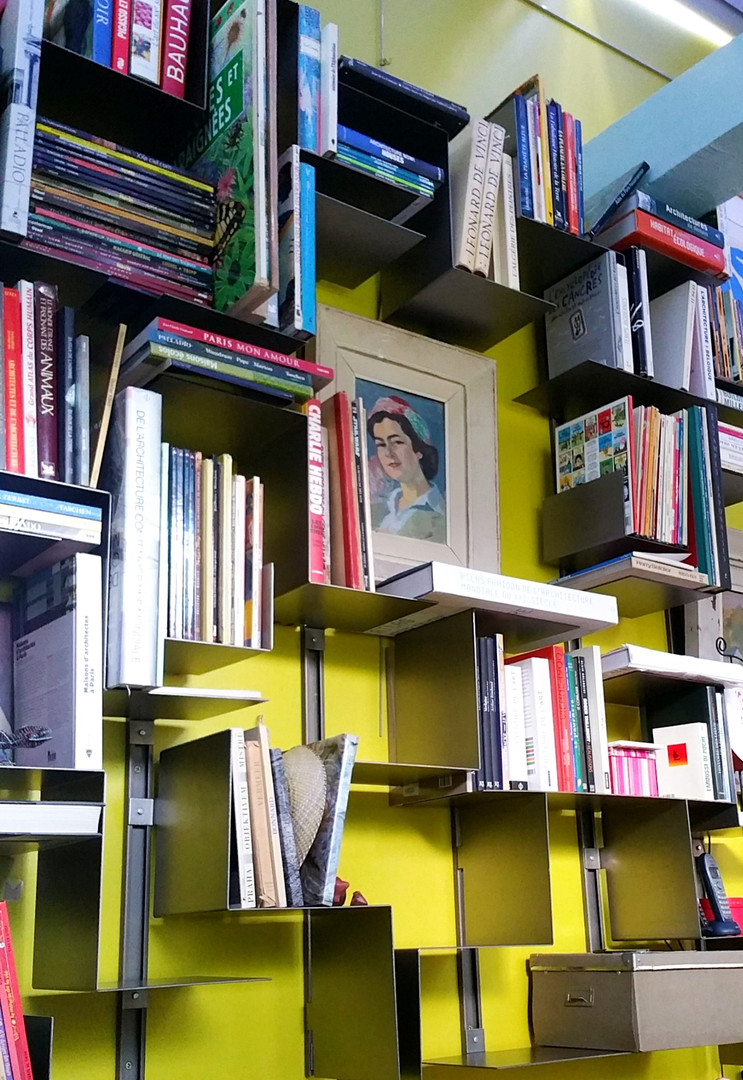 Bibliothèque modulable et contemporaine