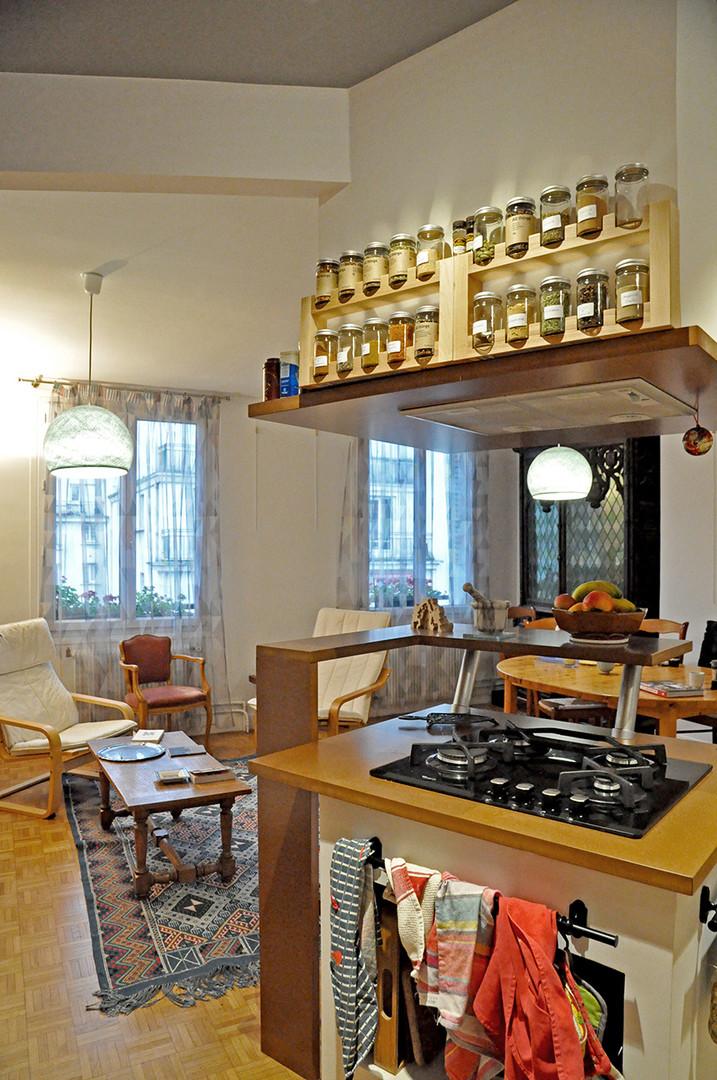 Îlot de cuisine design à Paris
