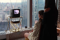 Reiki TV Station Angeli performs image by Sarah Sitzler Chashama Gala installation