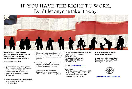 Right to work form