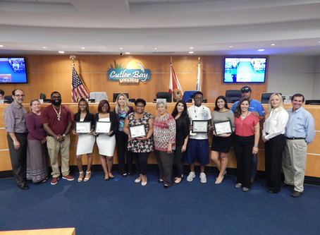 SLA Students attend cutler bay council meeting