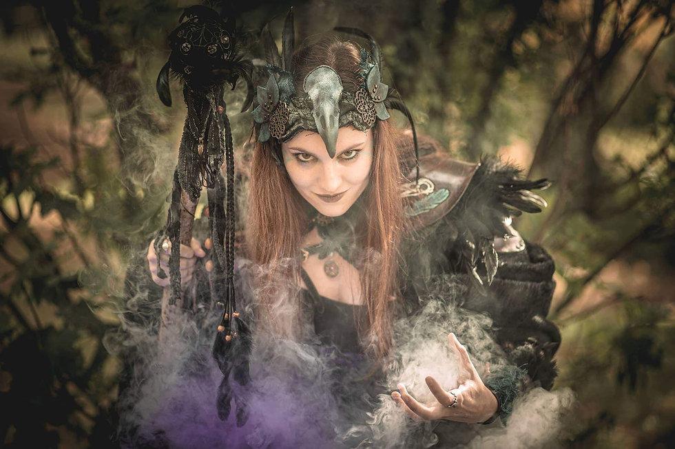 Costume Morigan - femme corbeau