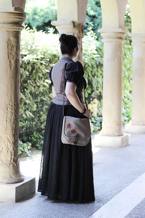 "Sac Besace ""Feuille d'automne"""