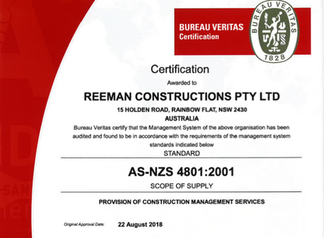AS-NZS 4801:2001 Certified