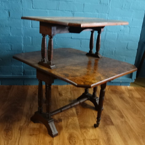 Two Tier Burr Walnut Sutherland Table
