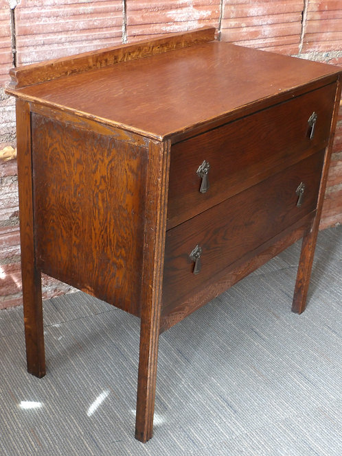 Art Deco Oak Chest 2 Drawers