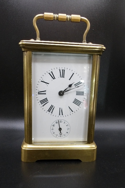 Brass alarm French carriage clock