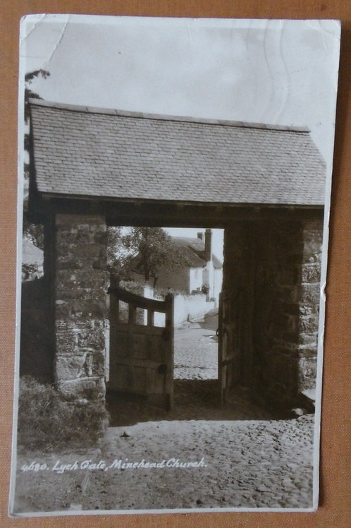 Lych Gate Minehead Church 1934