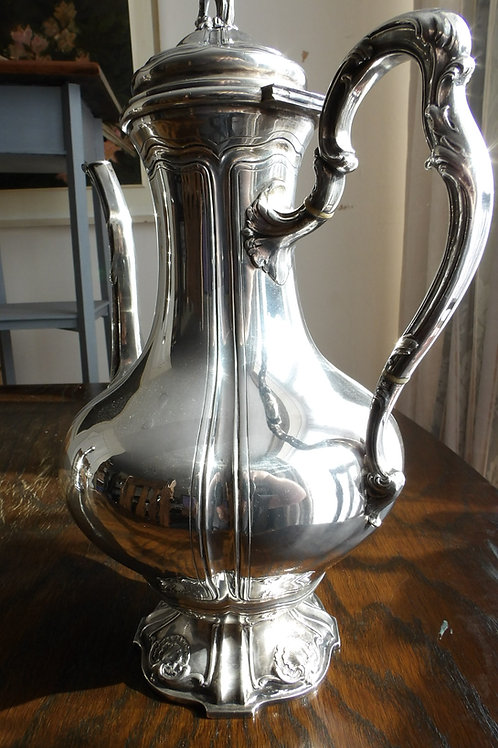 Solid Silver French Coffee Pot 1888
