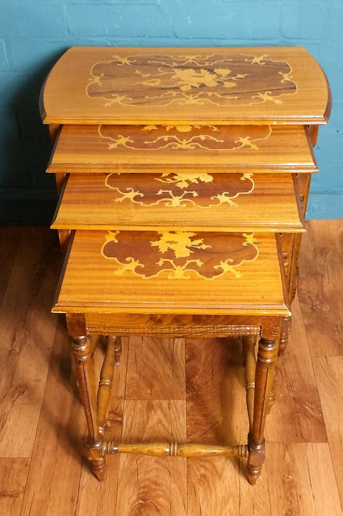Nest Of 4 Inlaid Tables