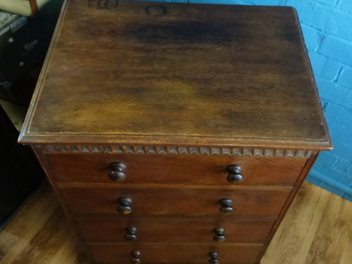 Oak Utility 4 Drawer Chest Of Drawers