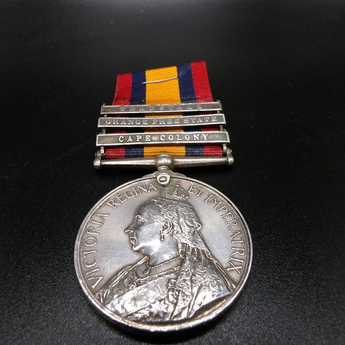 Queens South Africa Medal with 3 Bars