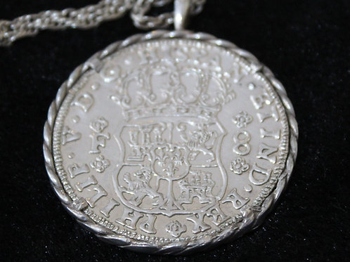 1732 8 Reales Coin on chain