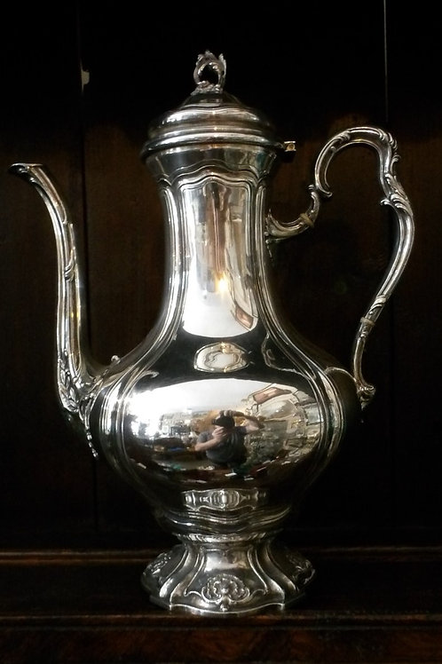 french Silver Coffee Pot c.1880