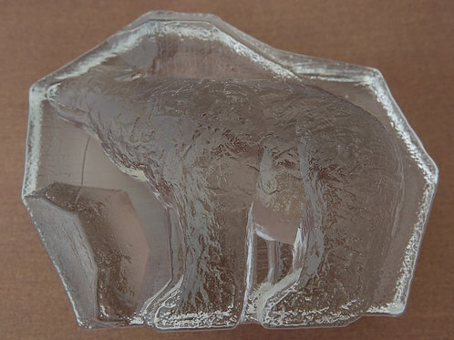 Bear Paperweight by Magnor Glass
