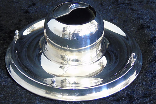 Sterling Silver Slide Top Inkwell